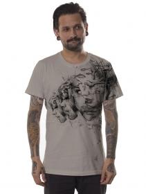 "T-shirt \""Atlantis\"", Beige"