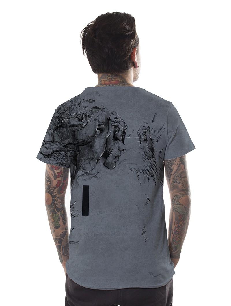 "T-shirt \""Atlantis\"", Gris vielli"