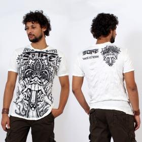 "T-shirt \""Bali Dragon\"", Blanc"