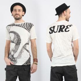 "T-shirt \""Bouddha Ornement\"", Blanc"