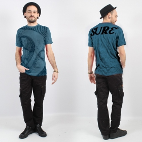 """T-shirt \""""Bouddha Ornement\"""", Bleu"""