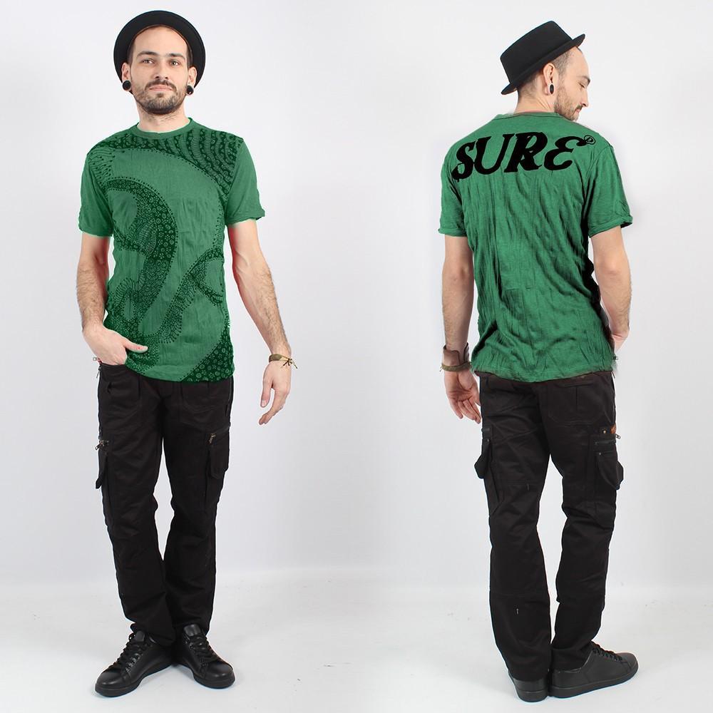 """T-shirt \""""Bouddha Ornement\"""", Vert menthe"""
