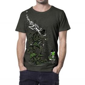 "T-shirt \""Caterpillar\"", Kaki chiné"