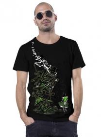 """T-shirt \""""Caterpillar\"""", Noir"""