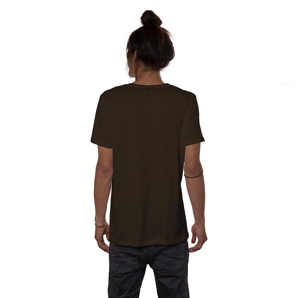 "T-shirt \""Catster\"", Marron"