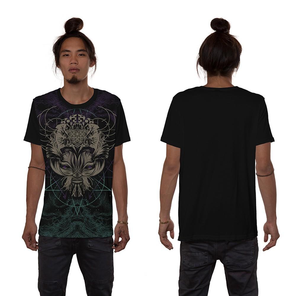 """T-shirt \""""Catster\"""", Noir"""