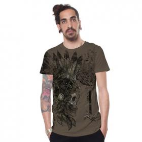 "T-shirt \""Cherokee\"", Beige"