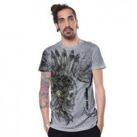 """T-shirt \""""Cherokee\"""", Gris chiné"""