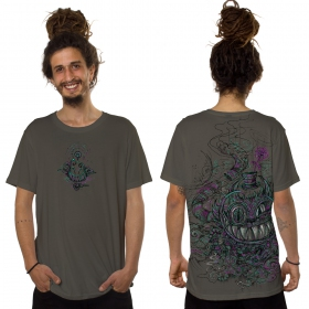 """T-shirt \""""Chester the Cat\"""", Beige foncé"""