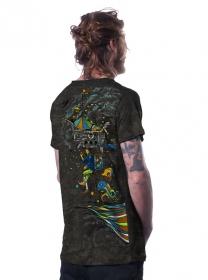 "T-shirt \""Circus\"", Noir"