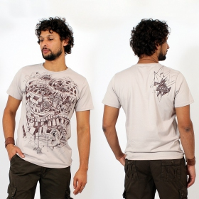 "T-shirt \""City Steps\"", Beige"