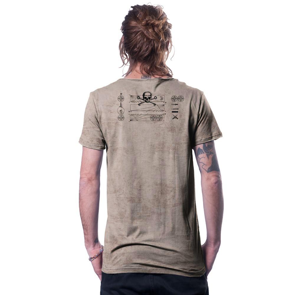 """T-shirt \""""Compas\"""", Beige"""