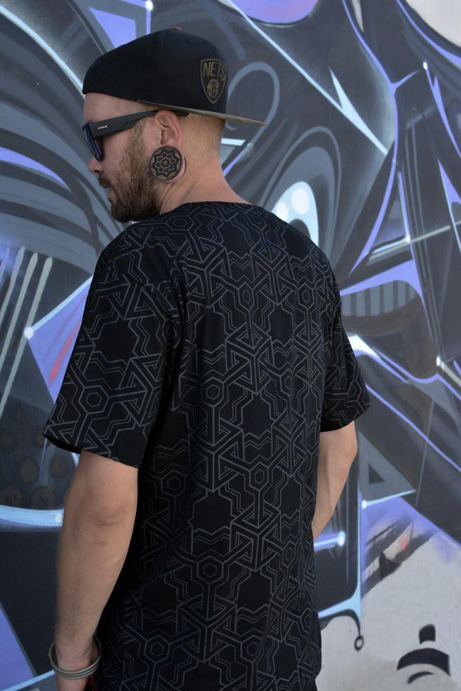 "T-shirt \""Cubik\"", Noir"