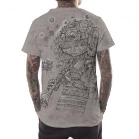 "T-shirt \""Cubina\"", Beige chiné"