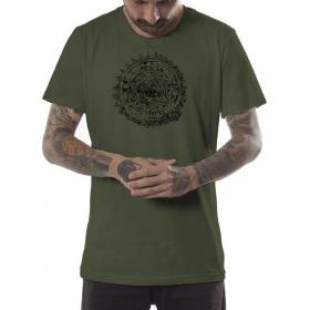 """T-shirt \""""Cubina\"""", Kaki chiné"""
