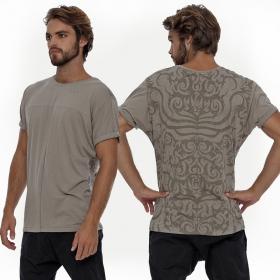 """T-shirt \""""Dayak\"""", Gris beige"""