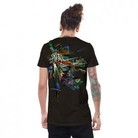 """T-shirt \""""Di-mention\"""", Marron foncé"""