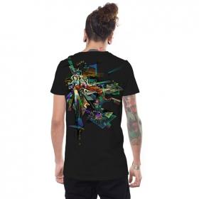 """T-shirt \""""Di-mention\"""", Noir"""
