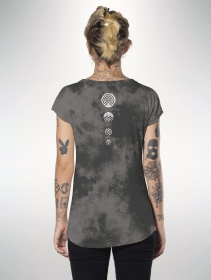 "T-shirt ""Digital Nature\"", Gris tie dye"