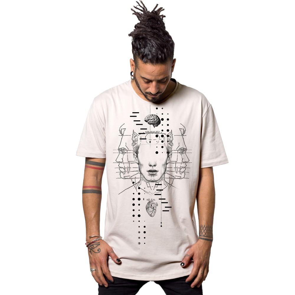 """T-shirt \""""Dissonance\"""", Blanc"""