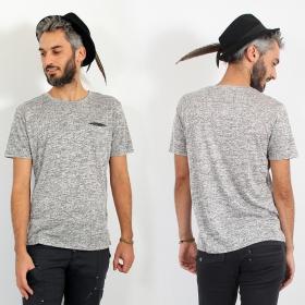 """T-shirt \""""Erawan\"""", Gris beige"""