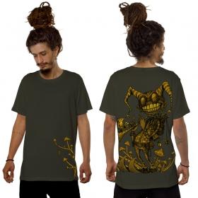 """T-shirt \""""Fiddler\"""", Vert kaki"""