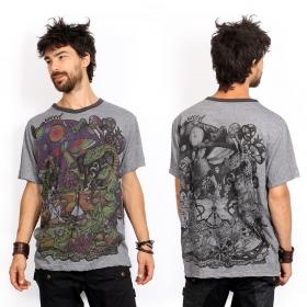 """T-shirt \""""Fiesta\"""", Gris foncé"""
