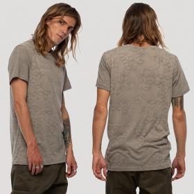 "T-shirt \""F.O.L\"", Gris beige"