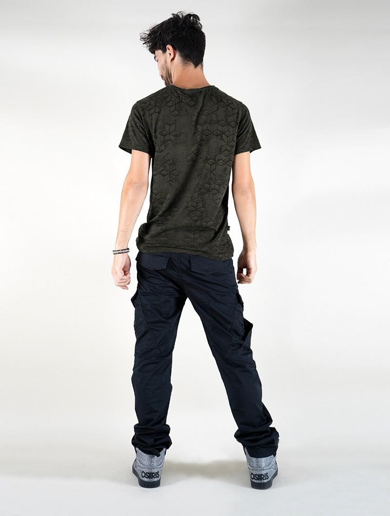 "T-shirt \""F.O.L\"", Vert kaki"