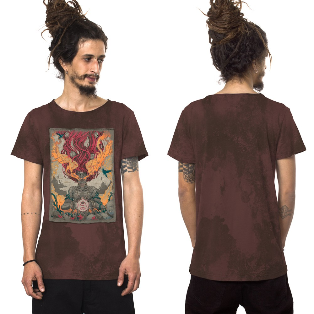 "T-shirt ""Fusion Culture\"", Bordeaux vieilli"