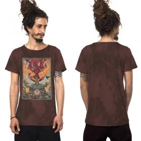 """T-shirt \""""Fusion Culture\"""", Bordeaux vieilli"""