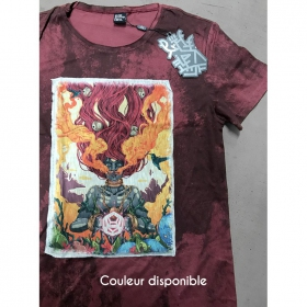 "T-shirt ""Fusion Culture"", Bordeaux vieilli"