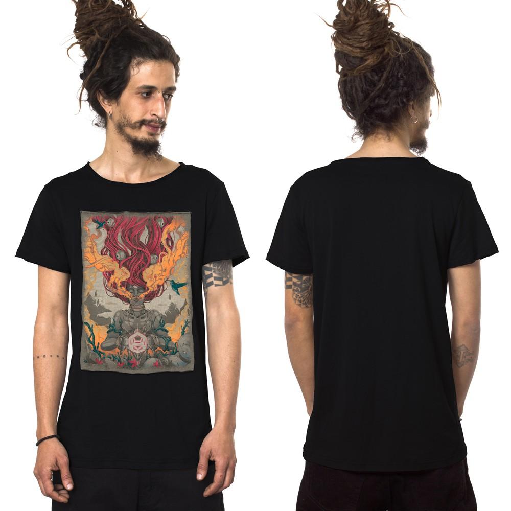 """T-shirt \""""Fusion Culture\"""", Noir"""