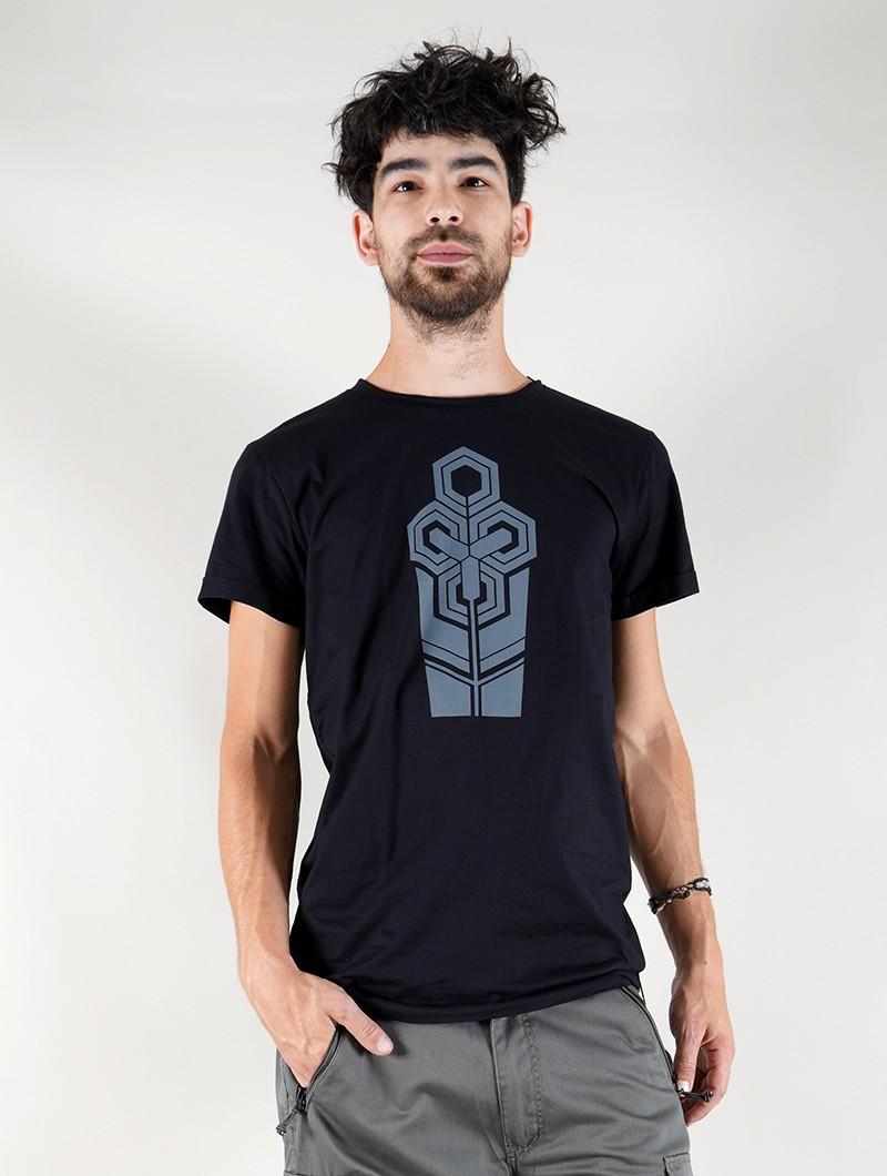 """T-shirt \""""Futurist Tierra\"""", Noir"""