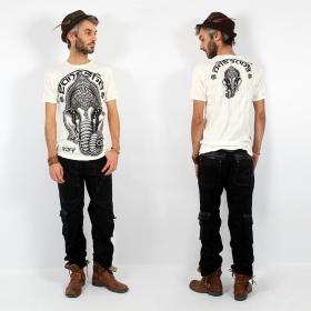 """T-shirt \""""Ganesh Face\"""", Blanc"""