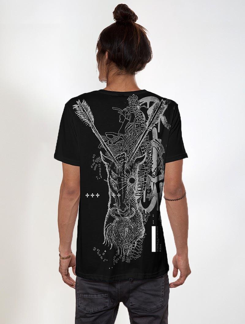 """T-shirt \""""Ganibal\"""", Noir"""