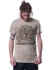 """T-shirt \""""Gaurdner\"""", Beige chiné"""