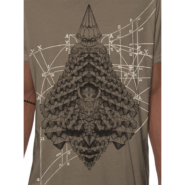 "T-shirt \""Geo Conehead\"", Beige foncé"