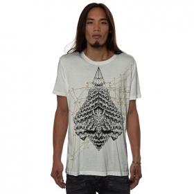 """T-shirt \""""Geo Conehead\"""", Blanc cassé"""
