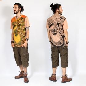"T-shirt \""Giant ohm\"", Orange clair"