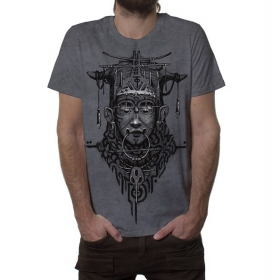"""T-shirt \""""Goan\"""", Gris vieilli"""