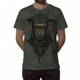 "T-shirt \""Goan\"", Kaki chiné"