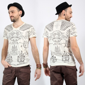 "T-shirt \""Golden Bull\"", Blanc"