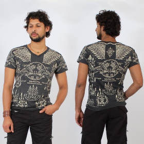 """T-shirt \""""Golden Bull\"""", Gris foncé"""
