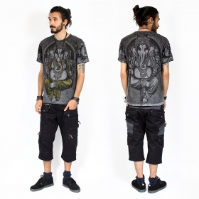"T-shirt \""Great Ganesh\"", Gris foncé"
