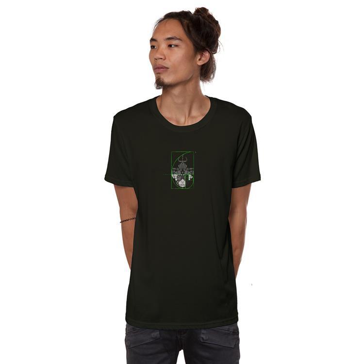 "T-shirt \""Hanuman\"", Kaki foncé"