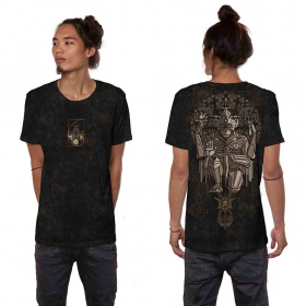 """T-shirt \""""Hanuman\"""", Noir industriel vieilli"""