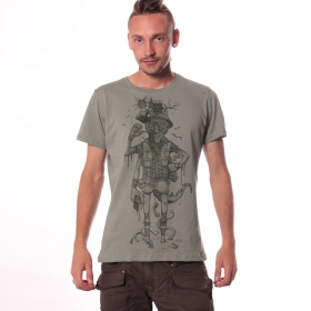 "T-shirt ""Hunter\"", Vert clair"
