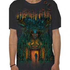 """T-shirt \""""Inner Forest\"""", Gris foncé"""