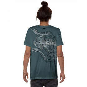 "T-shirt \""Jelly Lab\"", Bleu turquoise"